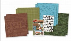 Karen Foster Karen Foster 12-Inch by 12-Inch Page Kit, Fishing