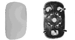 Spiegelglas, Außenspiegel für FIAT DOBLO Cargo (223)