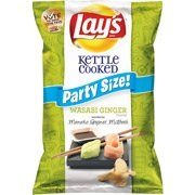 Lays Limited Edition Party Size Wasabi Ginger, 56 Ounces (Pack of 4)