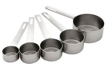 MIU 5-Piece Stainless Steel Measuring Cup Set