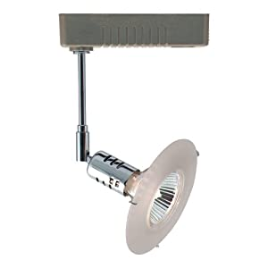 Jesco Lighting HLV80650FR/CHSC Mini Deco 806 Series Low Voltage Track Light Fixture, 50 Watt, Frosted Glass, Chrome Finish With Satin Chrome Transformer
