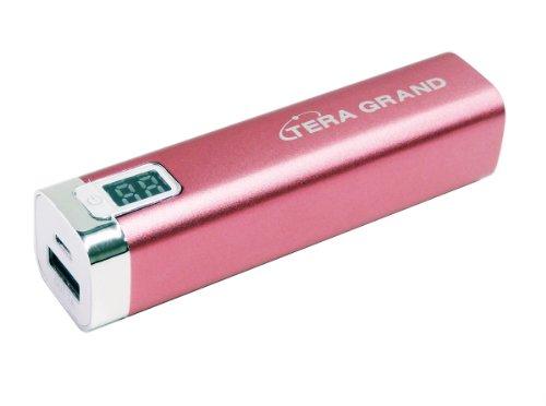 Tera Grand 2600 Mah Power Bank With Led Digital Display - Retail Packaging - Pink