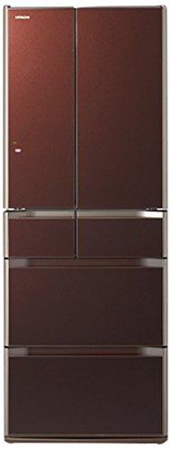 日立 517L 6ドア冷蔵庫(クリスタルブラウン)HITACHI 真空チルド R-G5200E-XT