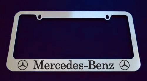 Mercedes Benz Chrome License Plate Frame (metal)