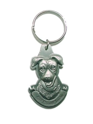 Pewter Jack Russell Terrier Jrt Key Chain Ring Made In The Usa