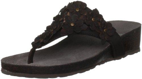 Lotus Women's Bronte Brown Open Toe Flats 2495
