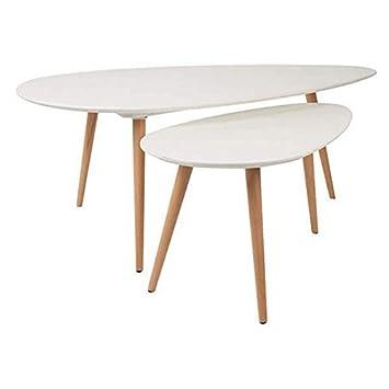 Set di 2 tavolini Suede