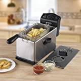 Swan SD6040N Stainless Steel Fryer with Viewing Window, 3 Litre