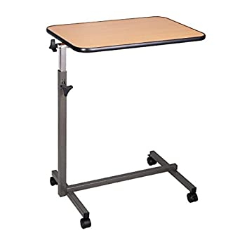 Super buy overbed rolling table over bed laptop food tray for Divan overbed table