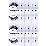 24 Packs Eyelashes - #43 by Christina (Color: 24 Pairs)