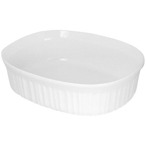 CorningWare French White 1-1/2-Quart Oval Dish