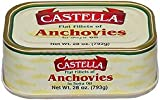 Anchovies, Flat Fillets in Soya Oil, 28oz(793g) - Castella