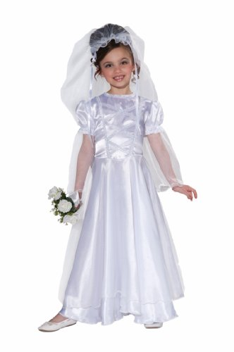 Forum Novelties Little Bride Wedding Belle Child Costume Dress and Veil, Medium