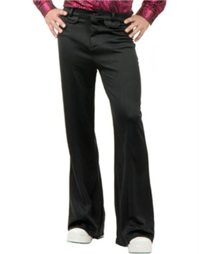 "Adult 46"" Waist Black Staying Alive Disco Costume Pants"