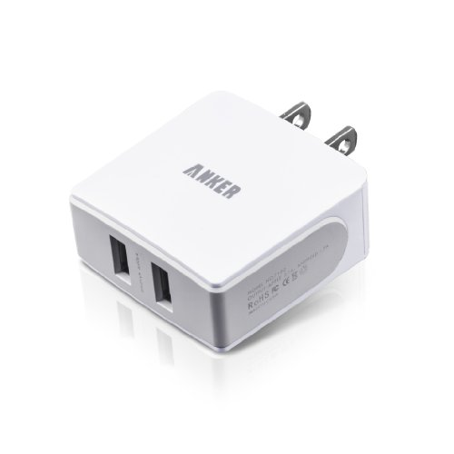 Anker® 18W / 3.6A Dual-Port Full-Speed Wall Charger for iPads, Smartphones and Anker External Batteries.