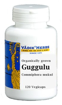 Guggulu - Commiphora Mukul, 100 Vegicaps,(Bazaar Of India)