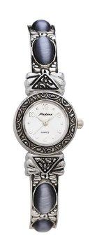 Medana Ladies Cats Eye Bangle Line Genuine Stone Watch # 2502