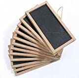 12 Mini Chalkboards 2&quot;X4&quot;- For Wedding Place Cards Party Favors, & Crafts