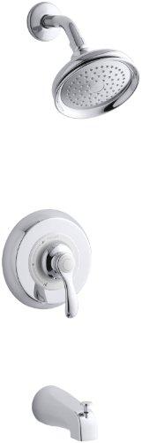 Kohler K-T12007-4-CP Fairfax Rite-Temp Pressure-Balancing Bath and Shower Faucet Trim (Polished Chrome)
