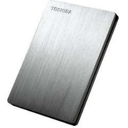 TOSHIBA CANVIO SLIM 2.5インチUSB3.0外付けHDD (500GB、シルバー) HD-SA50GS
