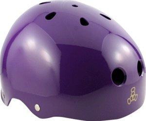 Triple Eight - Gloss Purple - Brainsaver Helmet Sweatsaver Roller Derby - skate by Triple 8