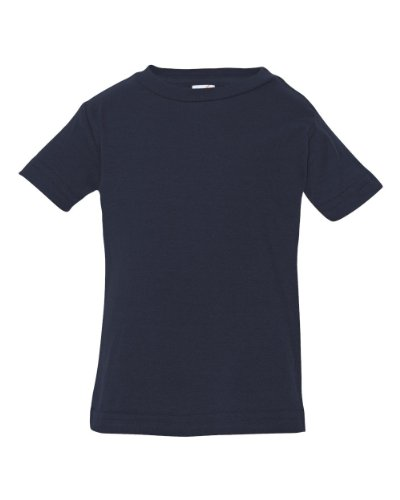 Rabbit Skins 3322 Infant Fine Jersey T-Shirt - Navy - 12Mos front-220163