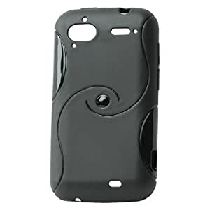 ORIGINAL iProtect HTC Sensation Double S-Line Silicon Tasche Hülle / Sensation Schutzhülle TPU schwarz
