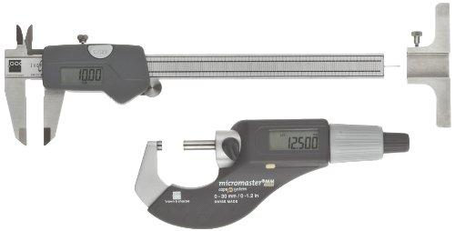 Brown & Sharpe 00591007 3 Piece Digital Electronic Precision Tool Set with Shop-Cal Caliper