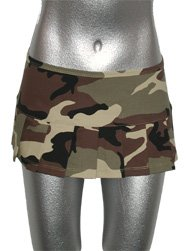 Camoflage Army Micro 8 Inch Pleated Mini Skirt