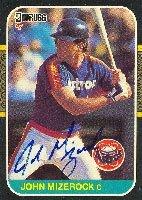 John Mizerock Houston Astros 1987 Donruss Autographed Hand Signed Trading Card.