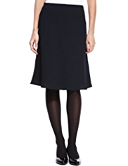 M&S Collection Knee Length A-Line Crêpe Skirt