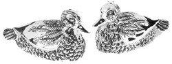 Silver Plated Ducks ~ Salt and Pepper Cruet Set NEW Boxed Gift