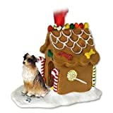 NEW Australian Shepherd Red Ginger Bread House Christmas Ornament