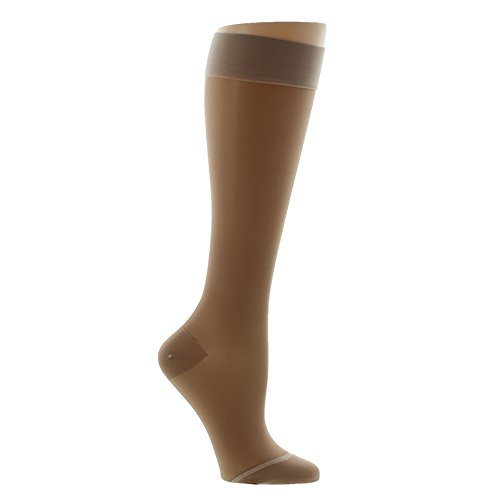 Ames Walker Women's AW Style 16 Sheer Support Closed Toe Compression Knee High Stockings - 15-20 mmHg Nude X-Large 16-XL-NUDE Nylon/Spandex