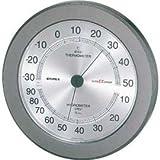 EMPEX (エンペックス) 温・湿度計 スーパーEX高品質温・湿度計 壁掛用 EX-2737 メタリックグレー