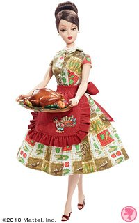 Top Barbie Collector # T2160 Holiday Hostess Thanks Giving