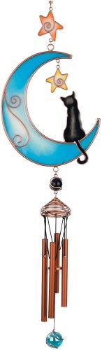 Carson Home Accents Wireworks Glowworks Glow Moon Cat Chime