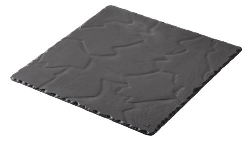 Revol Basalt Collection, 9-3/4-Inch Slate Square Plate