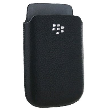 BlackBerry BLACK LEATHER POCKET F/ CASE BLACKBERRY 98XX