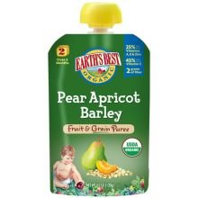 Earth'S Best Baby Foods Baby Puree Pear Aprct Org 4.2 Oz (Pack Of 12) front-709827