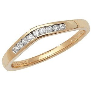 Unique Wishlist 9ct Yellow Gold 10pt Diamond Soft Wishbone Ring
