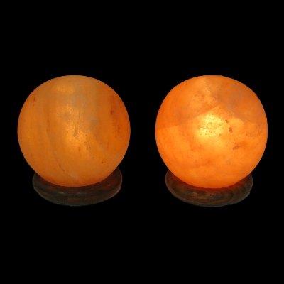 2 Himalayan Salt Lamp Spheres