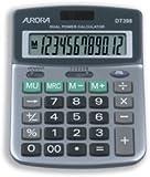 Brand New. Aurora Calculator Desktop Battery/Solar-power 12 Digit 3 Key Memory 103x138x28mm Ref DT398