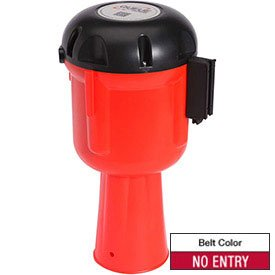 Queue Solutions Conepro 600 Orange Traffic Cone Mount Retracting Belt 30' Red Printed No Entry Belt (Traffic Cone Flag compare prices)