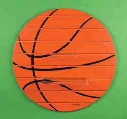"Basketball Shelf- Large 25"" Round Wood Sports Shelf"