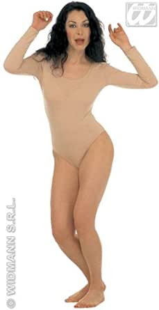 Lady Leotard Withlong Sleeves Beige Leotards Adults