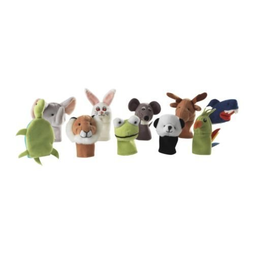 Ikea Titta Djur Set of 10 Finger Puppet, Assorted Colors - 1