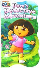 Dora the Explorer Shaped Educational Board Book ~ Dora's Detective Adventure by Nickelodeon - 1