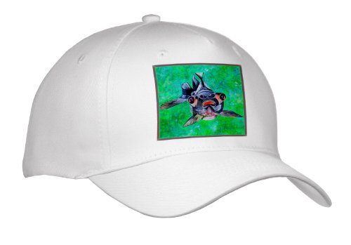 Taiche - Acrylic Painting - Blackmoor Goldfish - Blackmoor Goldfish- Blackmoor Goldfish, Telescope Goldfish, Goldfish, Dragon Eye Goldfish - Caps - Adult Baseball Cap