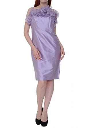 Luisa Spagnoli Silk Dress PAG, Color: Lilac, Size: 38 at Amazon Women